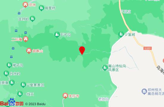 嵩山飞拉达地图