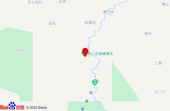 莽山五指峰地图