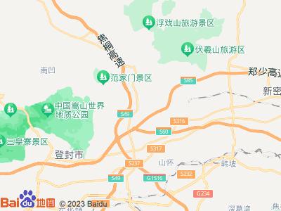 河南嵩山少林寺地图