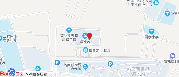 岭南新世界小区地图