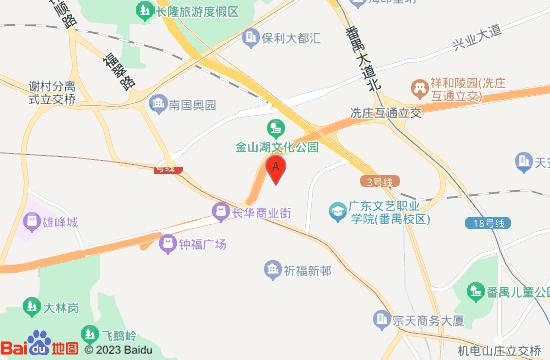 番禺培乐方熊山谷地图