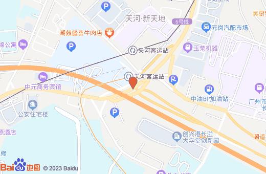 广州天河客运站地图