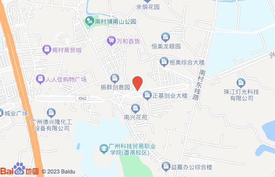 梁秀玲刺绣艺术馆的百度地图地址标示