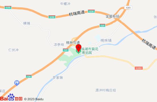 临湘桃林菊花园地图
