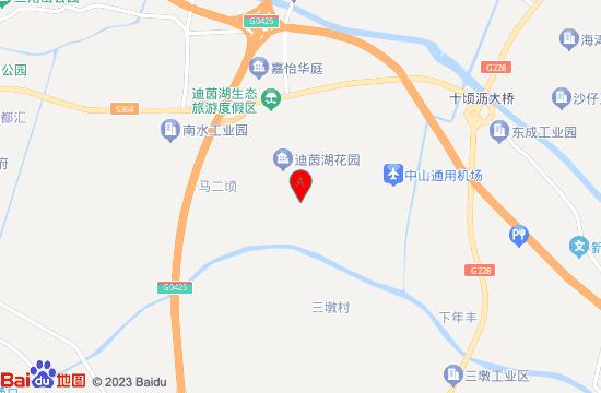 中山迪茵湖小镇地图