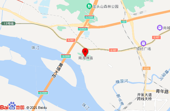 广州南海神庙地图