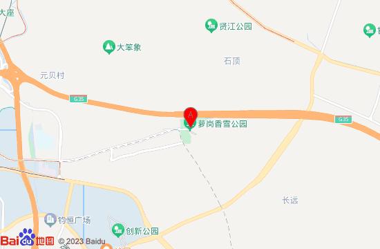 广州萝岗香雪公园地图