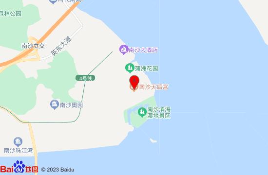 南沙天后宫地图