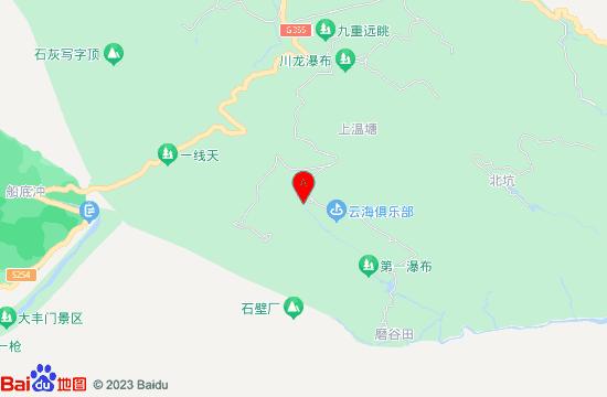 龙门南昆山云天海原始森林度假村地图