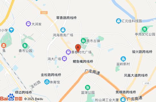 东莞寮步牙香街地图