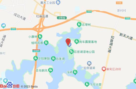 武汉后官湖湿地公园地图