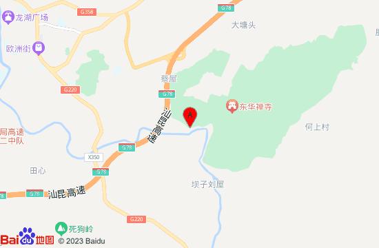 翁源东华山地图