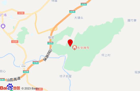 翁源东华禅寺地图