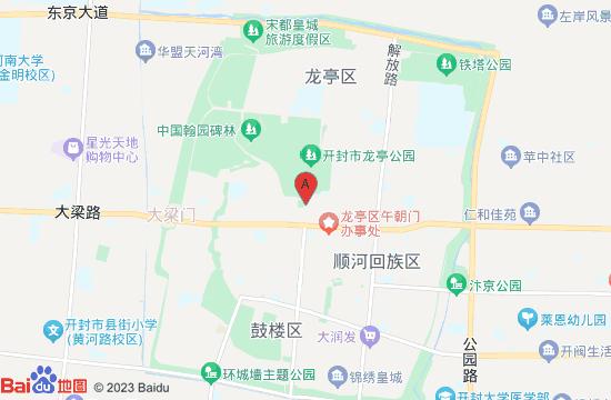 开封宋都御街地图