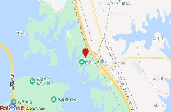 武汉东湖落雁景区地图