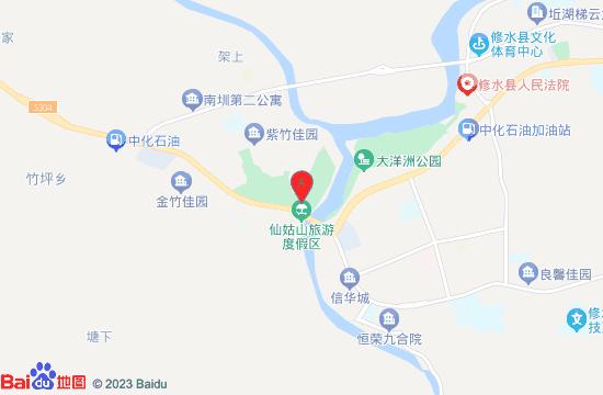 修水仙姑山水上乐园地图