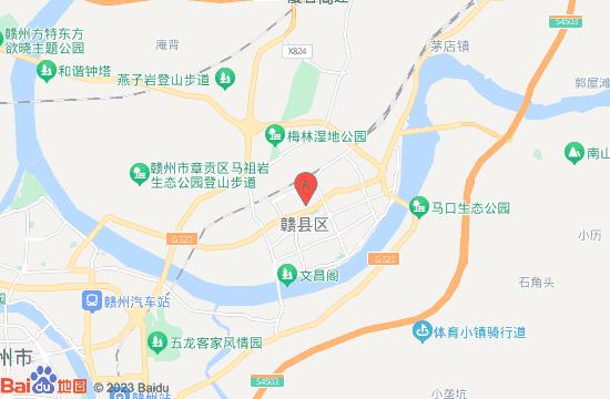 赣县地图,赣州市赣县地图