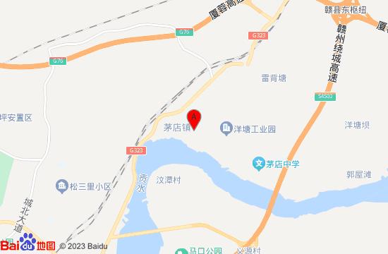 江西省赣州市赣县茅店镇地图