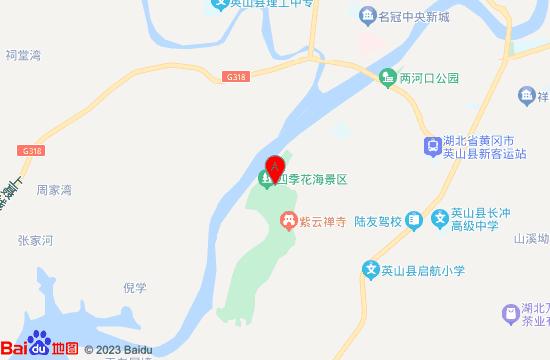 英山花乐汤温泉地图