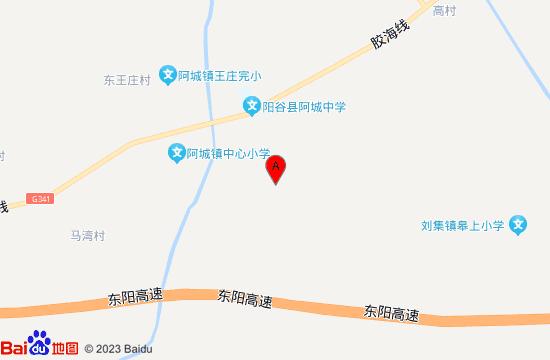 阳谷海会寺地图