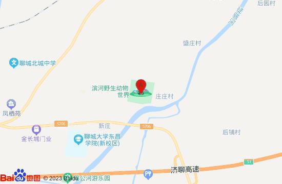 聊城滨河野生动物园地图