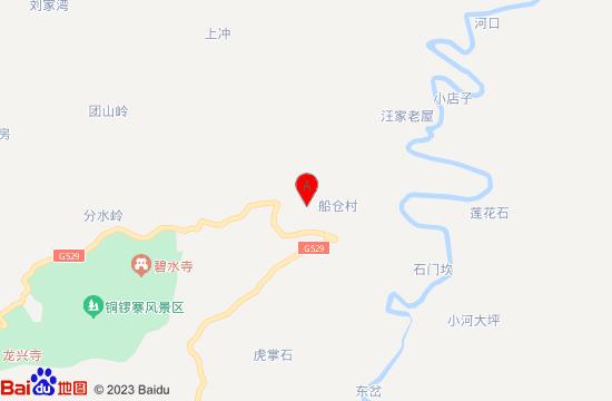 霍山船仓花海地图