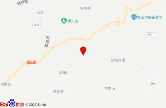 霍山白云峡瀑布群地图