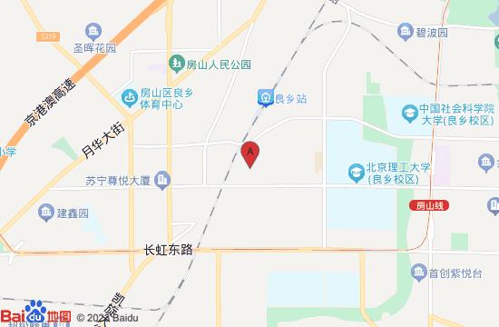 北京昊天公园地图