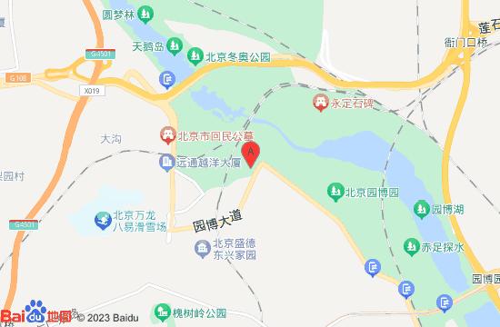 中国园林博物馆地图