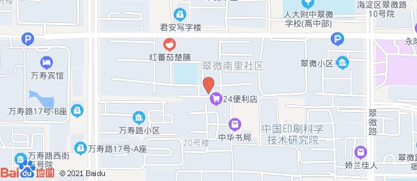 翠微南里小区地图