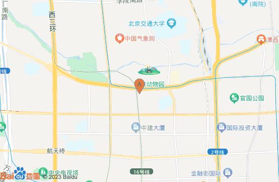 中国古动物博物馆地图