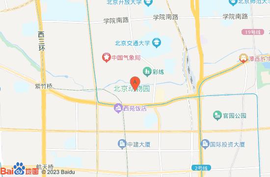 北京动物园地图
