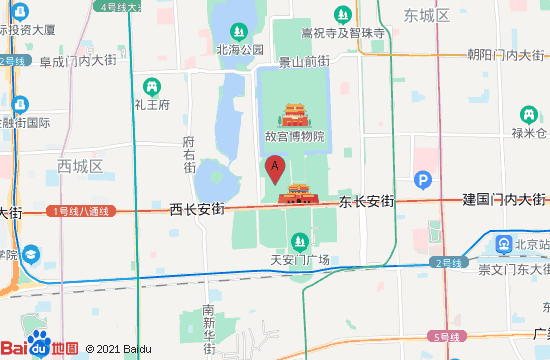 北京中山公园地图