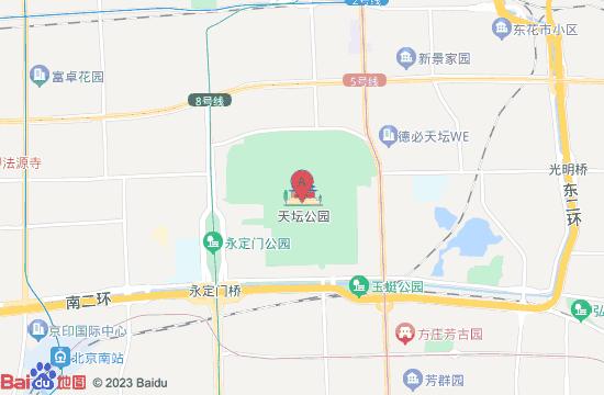 北京天坛公园地图
