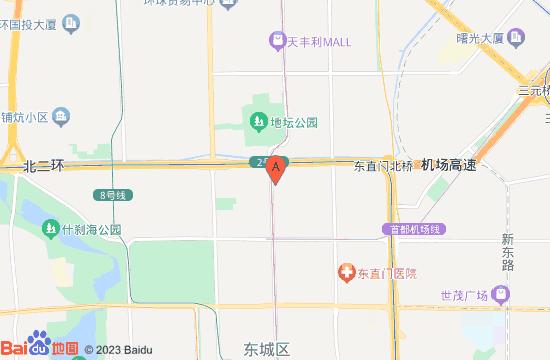 北京雍和宫地图