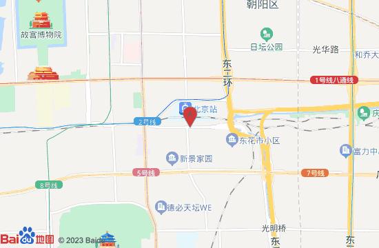 北京明城墙遗址公园地图