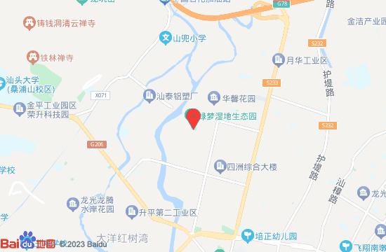 汕头绿彩游乐园地图