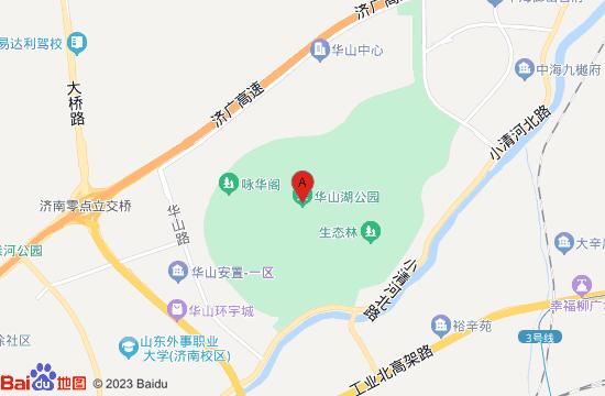济南华山湖湿地公园地图