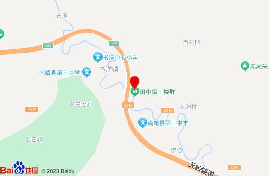 南靖田中赋土楼群地图