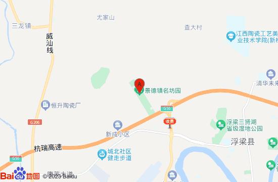 景德镇名坊园地图