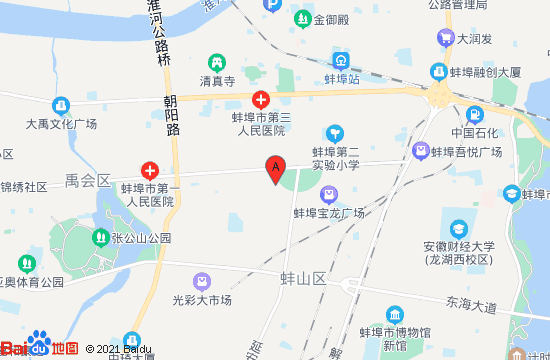 蚌埠御都温泉地图