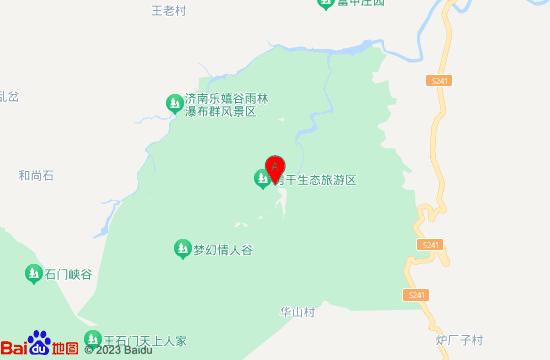 莱芜房干生态旅游风景区地图