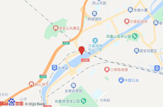 沙县大洲古渡地图