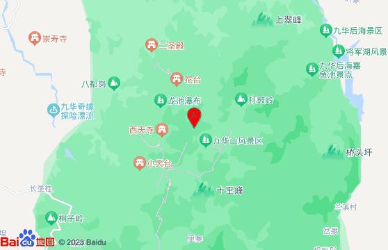 九华山风景区地图