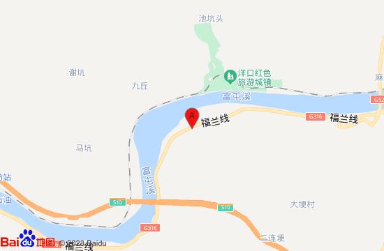 顺昌洋口红色旅游小镇地图