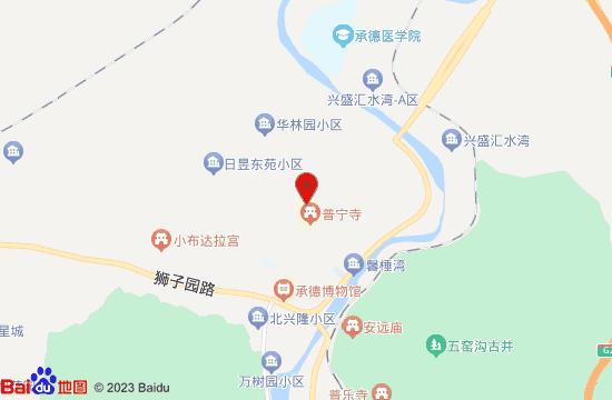 普宁寺地图