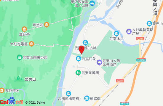 武夷山翰承瓷玉博物馆地图