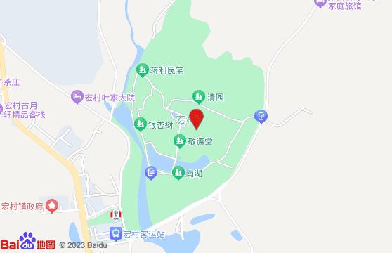 宏村风景区地图