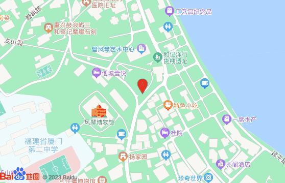 鼓浪屿工部局遗址地图