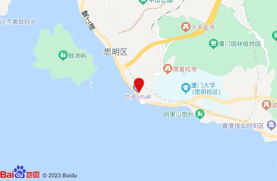 厦门双子塔地图